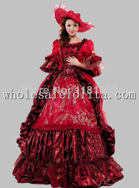 b774534ac913b Hot Sale 17 18th Century Marie Antoinette Baroque Rococo A Line Gothic Dress  Ball Gown