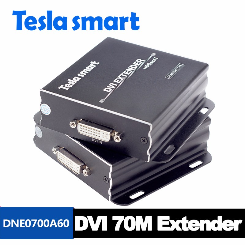 New HD Video HDBaseT DVI Extender 70m (RX&TX) Over Cat6 Cat5e Support Resolution up to 4K*2K 80 channels hdmi to dvb t modulator hdmi extender over coaxial