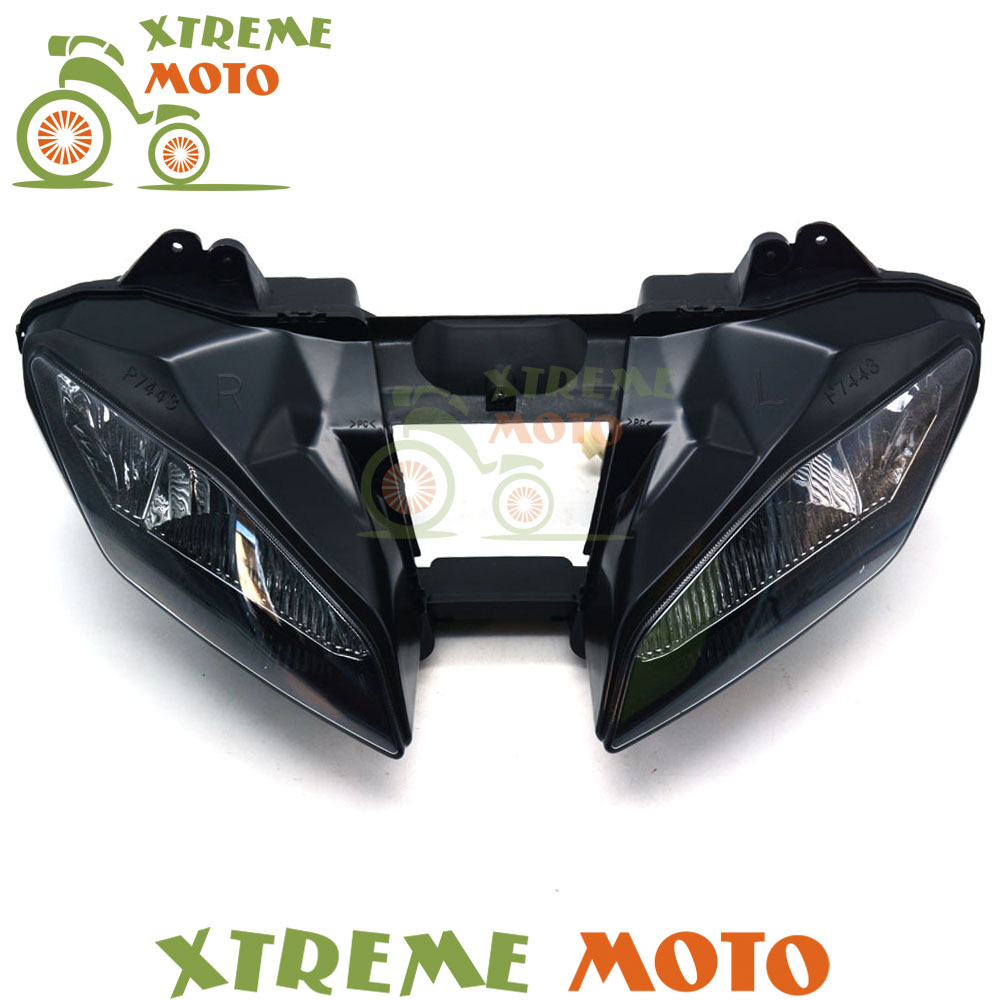 Motorcycle Black Headlights Headlamps Head Lights Lamps Assembly For YZF600 YZF R6 YZF-R6 2008 2009 2010 2011 2012 Supermoto