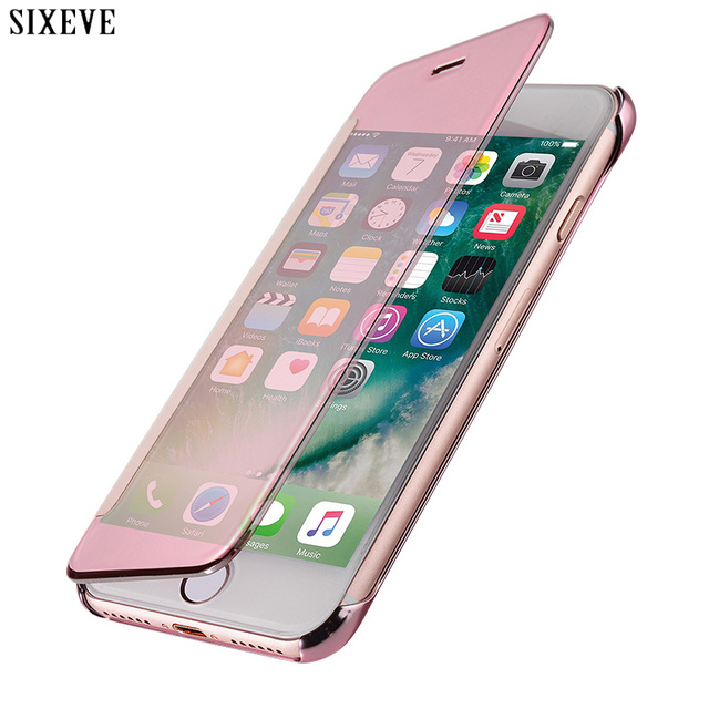 watch 79f85 3705c US $4.59 20% OFF|SIXEVE Acrylic Flip Case for iPhone 6 s 6S 7 8 X 10 5 5S  5SE iPhone 8Plus 7Plus 6Plus 6SPlus Luxury Clear Cell Phone Back Cover-in  ...