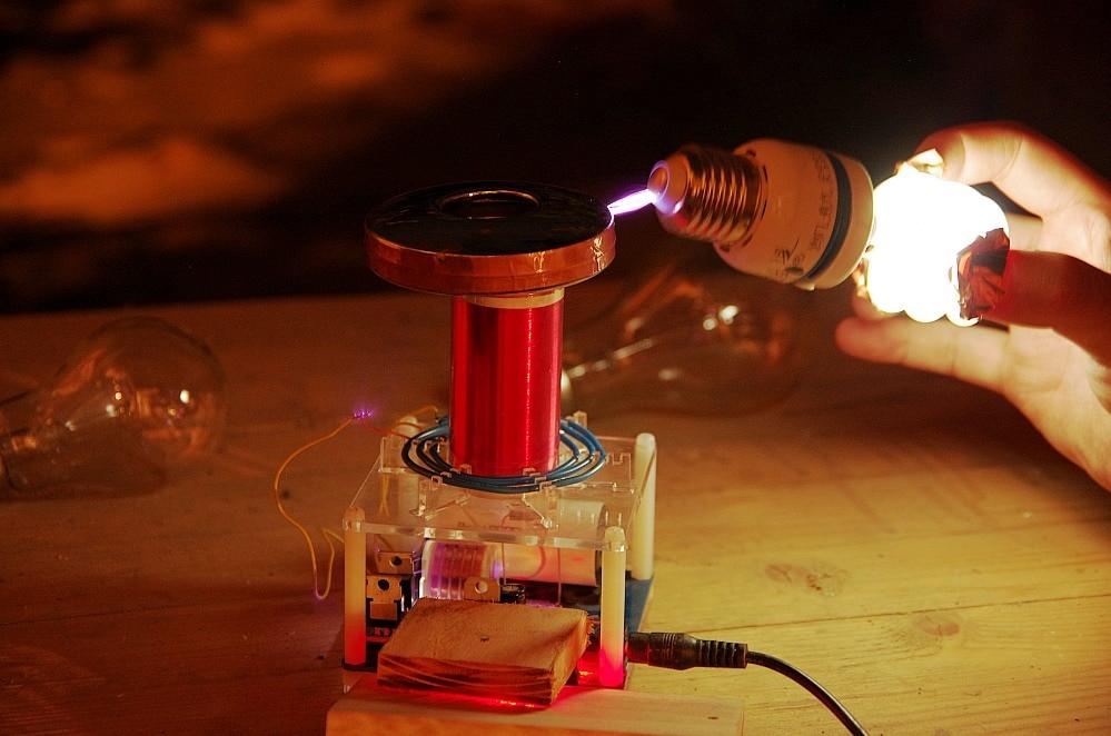 Micro tesla bobine CSTG éclateur tesla coil DIY Kits science physique jouet - 3