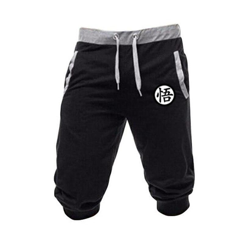 Mens Cotton Shorts Run Jogging Sports Casual Shorts Fashion Dragon Ball Goku Print Sweatpants Male Workout Brand Short Pants 3XL