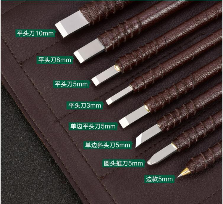 8 high quality seal tungsten alloy materials grill engraving knife carving knife and wood carving stone carving tool 1pcs freeshipping wood carving knife round billet knife wide 3 3cm