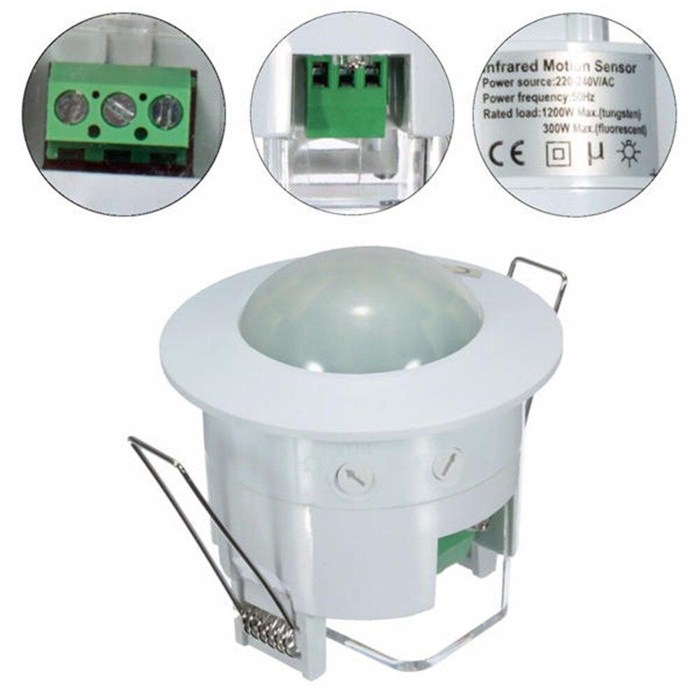 360 graus mini infravermelho pir detecção ir parede teto recessed  sensor de movimento detector interruptor de luz automáticaSensor e  detector