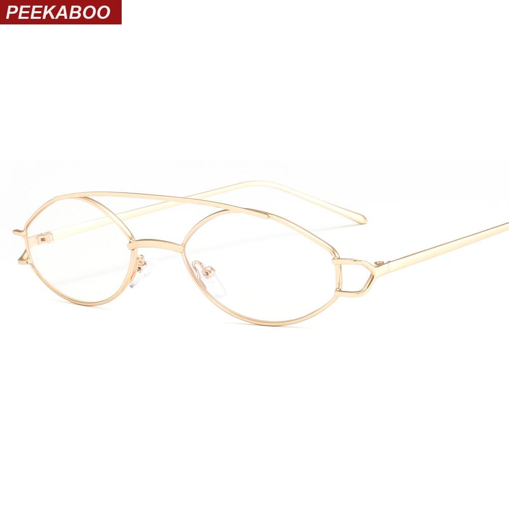 Peekaboo oval do vintage armações de óculos para os homens da moda 2019 de  prata de 12597df204