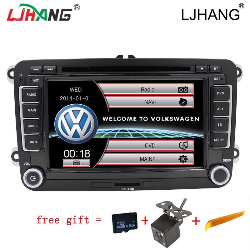 "imágenes para 7 ""2 din navegación DVD GPS Canbus para VW B6 integre Avanzada Passat Sagitar GOLF Jetta TOURAN dvd Del Coche de Radio audio Freemap SWC"