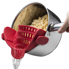 Сливное отверстие Риса Кухня сетчатые инструменты складной силиконовый дуршлаг фрукты овощи емкость для моющего средства Пан сетки фильтры кухонная посуда