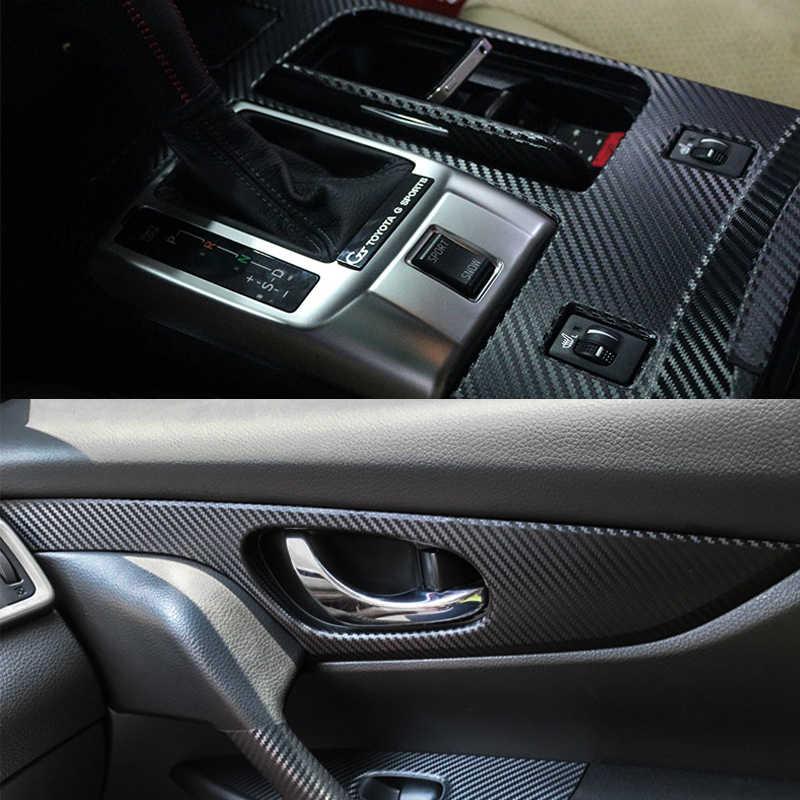 Pegatina de coche, lámina envolvente de vinilo 3D de fibra de carbono, rollo de película, revestimiento para coche, pegatinas adhesivas para motocicleta, coche, estilo de coche