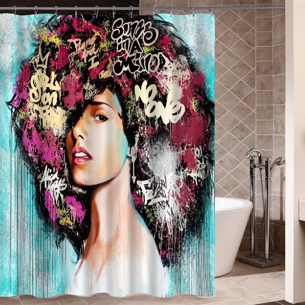 Art Design Graffiti Art Hip Hop African Girl With Black Hair Big