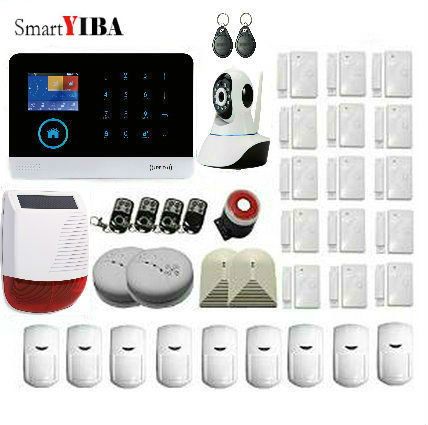 SmartYIBA APP Remote Control RFID GSM Anti-thieft Alarm With Outdoor Solar Siren IP Camera WIFI GPRS Security Alarm System yobang security rfid gsm gprs alarm systems outdoor solar siren wifi sms wireless alarme kits metal remote control motion alarm