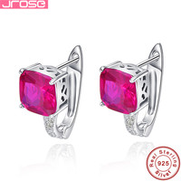Jrose Luxury 5CT Jewelry 925 Sterling Silver Earrings Clip Brand Quality Promised Ear Cuffs Earring For