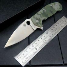 High quality Custom WLF-101 G10 handle 9 cr13 steel blade folding knife outdoor camping survival tool Tactical +AAAAAA