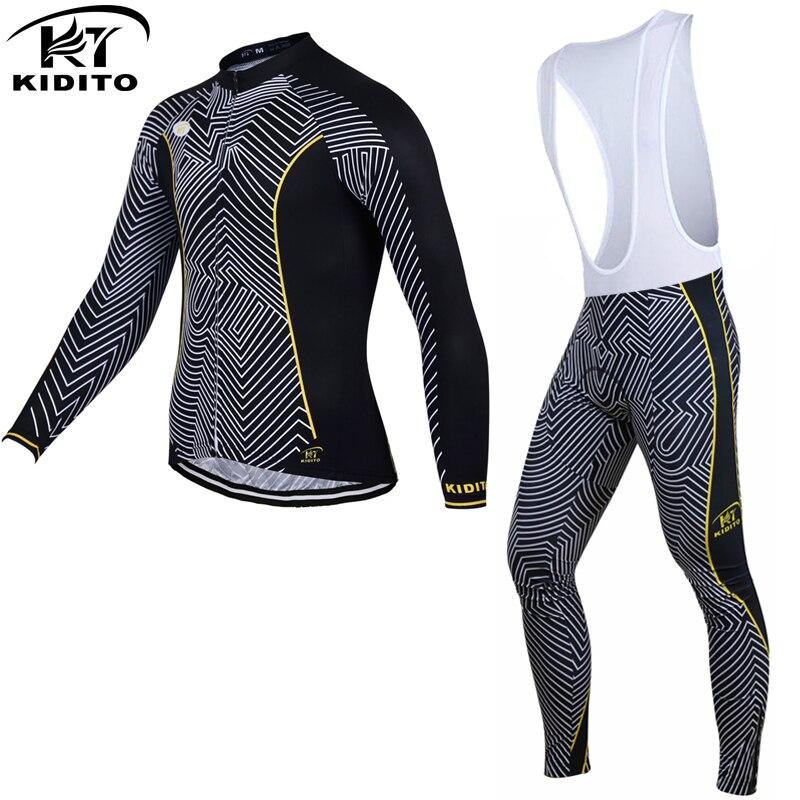 ФОТО KIDITOKT Keep Warm Cycling Jersey Set 2017 Ropa Ciclismo Invierno MTB Bike Long Sleeve Winter Thermal Fleece Bicycle Clothing
