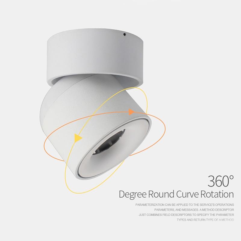 Aisilan led plafond montés sur les murs Downlight Réglable 90 degrés Spot light pour intérieure Foyer, Salon AC 90-260 V - 2