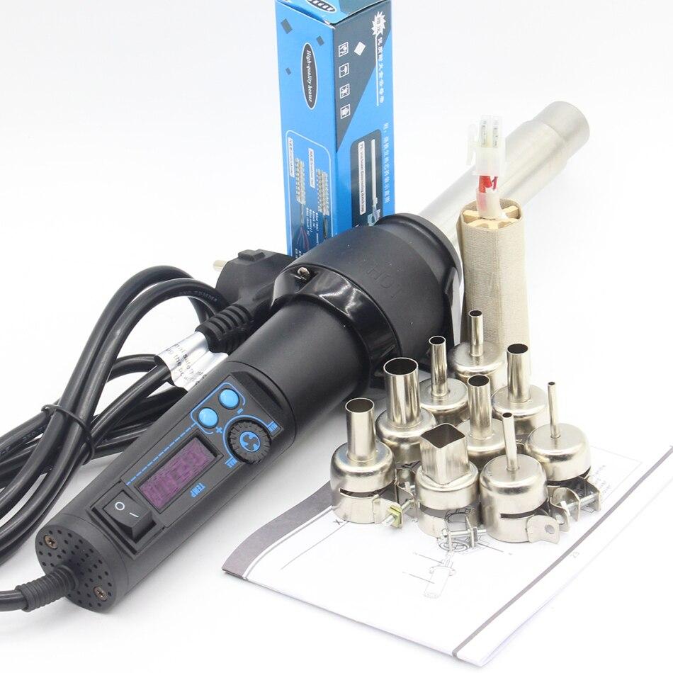 RIESBA 8858 lcd 650 Вт Портативная паяльная станция горячий воздушный пистолет сварочный фонарь материнская плата ремонт инструмент BGA rework station