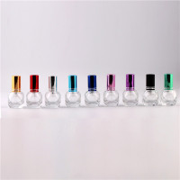 9 Color Optional Mini 7ml Fashion Portable Glass spray Perfume Bottle 6cc Cosmetic Bottle Aluminum Pump Head SprayFine