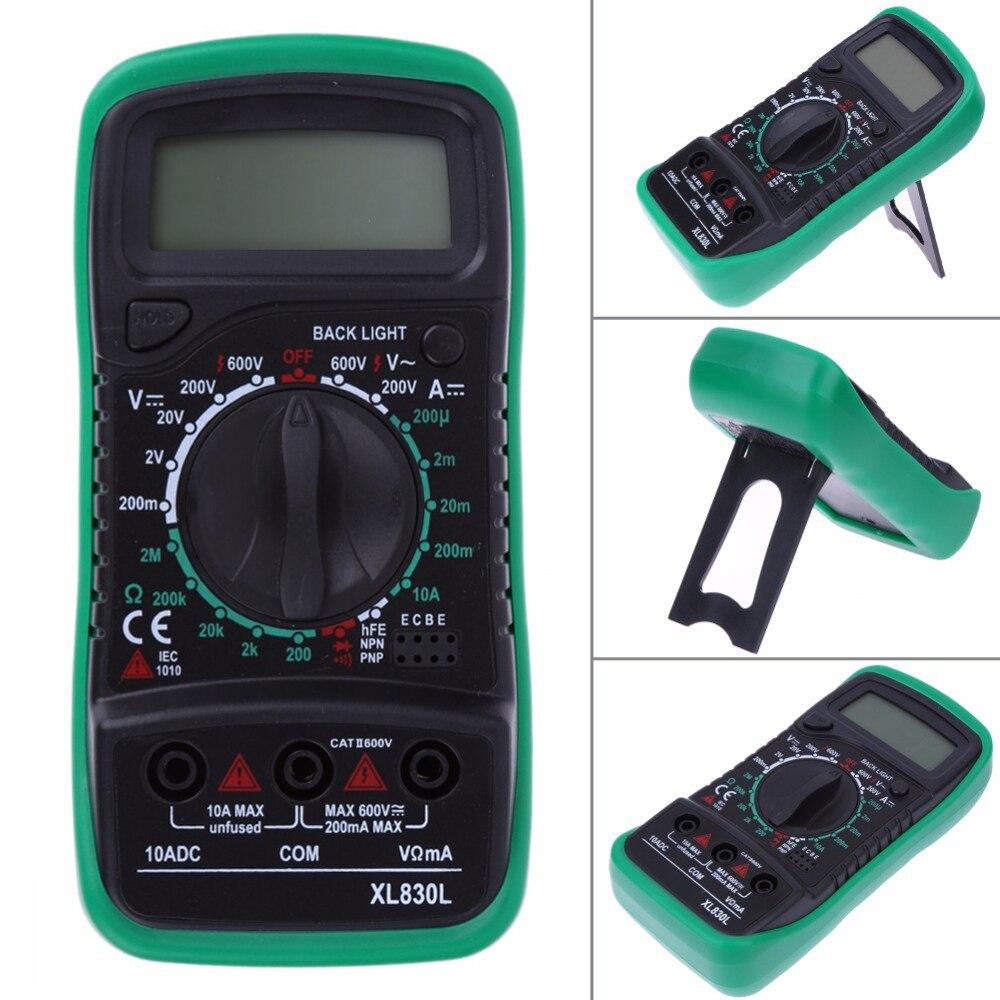 Xl830l multímetro Digital voltímetro amperímetro AC DC OHM Volt Tester LCD prueba corriente multímetro protección contra sobrecarga