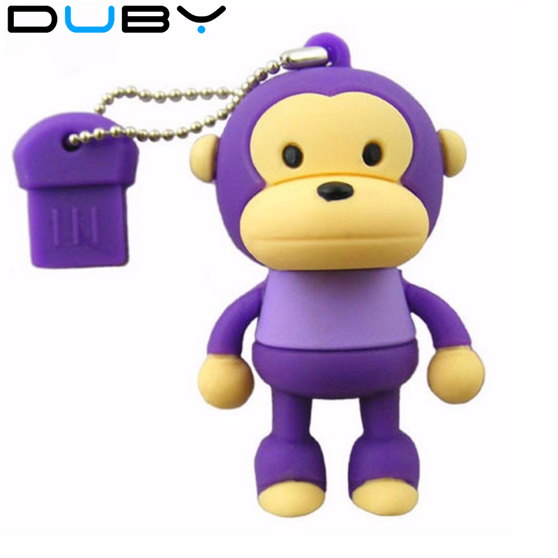 DUBY USB Flash Drive Cartoon Cute Monkey 4GB 8GB 16GB 32GB Pendrive External Memory Storage Pen Drive usb flash card u disk