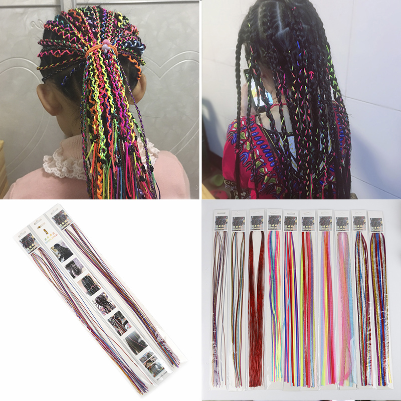 5-100pcs/lot Kid Women Girl Female Bohemia Style Women's Hair Accessories Handmade Ribbon Woven Rope Braided Hair Headdress