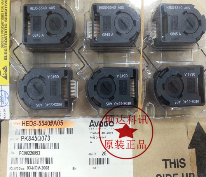 [VK] HEDS-5540#A05 HEDS-5540 high resolution easy to install incremental encoder switch heds 9100 sip 5