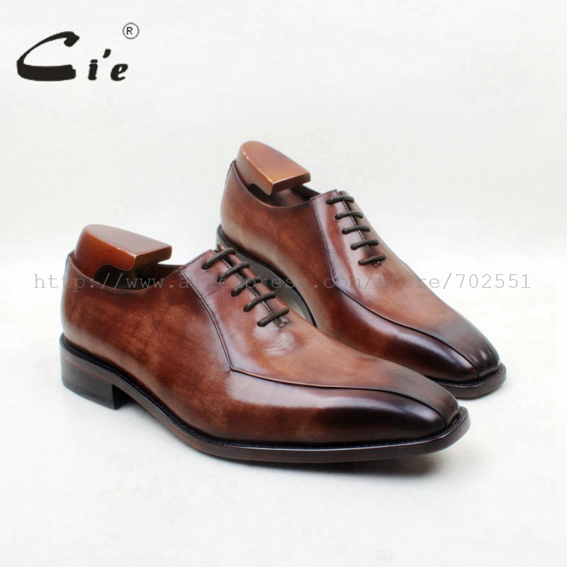 cie Square Toe Lace-Up 2 Lines100%Genuine Calf Leather Brown Patina Oxfords Leather Breathable Outsole Dress Men Shoe FlatOX703cie Square Toe Lace-Up 2 Lines100%Genuine Calf Leather Brown Patina Oxfords Leather Breathable Outsole Dress Men Shoe FlatOX703