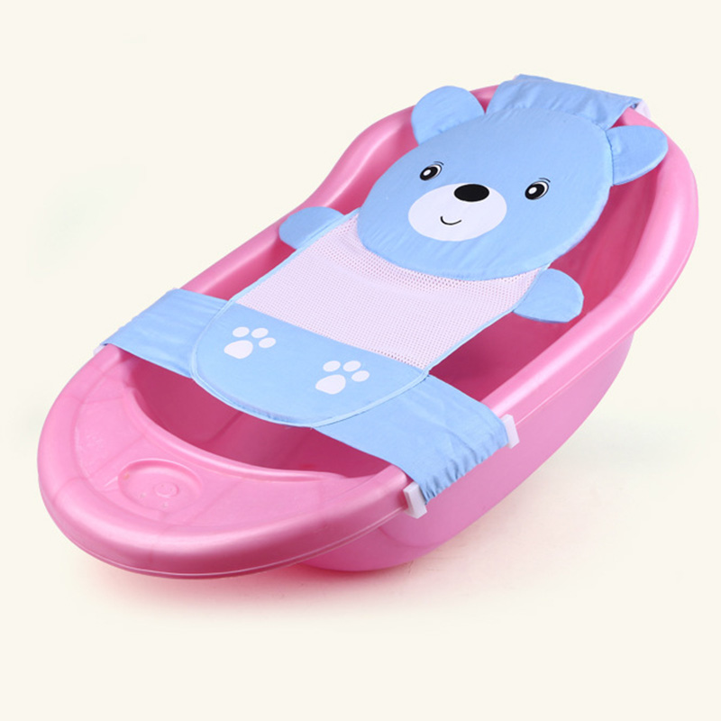 Newly Baby Bathtub Net Cartoon Bear Infant Bath Tub Mesh Seat ...