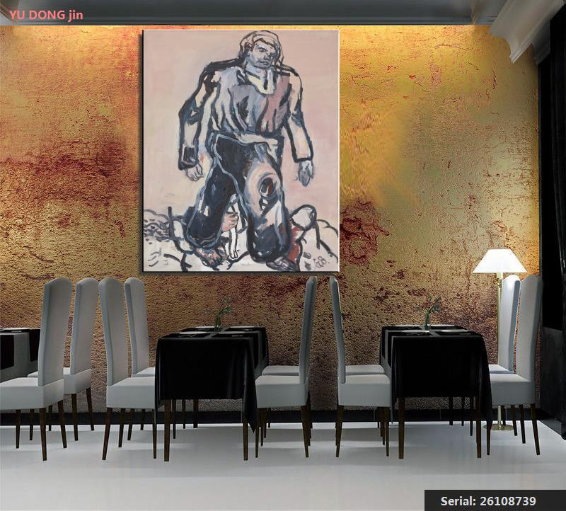 Georg Baselitz Portrét Abstrakt Olejomalba Kresba umění Sprej Bez - Dekorace interiéru