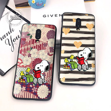 Cute Dog For Case Oneplus 6T 7 Cover Black Soft Silicone dog for Funda Phone Cases 1+6T Capa