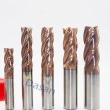 1pc fresa de extremidade 14mm 16mm 18mm 20mm longo 100mm hrc60 4 flauta 3 t carboneto sólido triturado moinho cnc torno miling cortador ferramenta