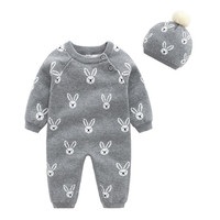 Newborn Romper Full Sleeve O neck Baby Winter Clothes 3 18 Months Tiny Cotton Baby Jumpsuit