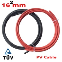 Free Shipping!! 16mm2 square AWG Black Red PV Solar Cable Used to Off grid and Grid Connected PV System Red +Black