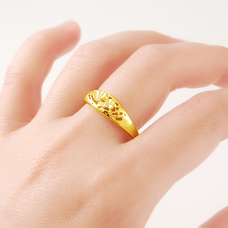 Jewelry Real 24K Gold Color...