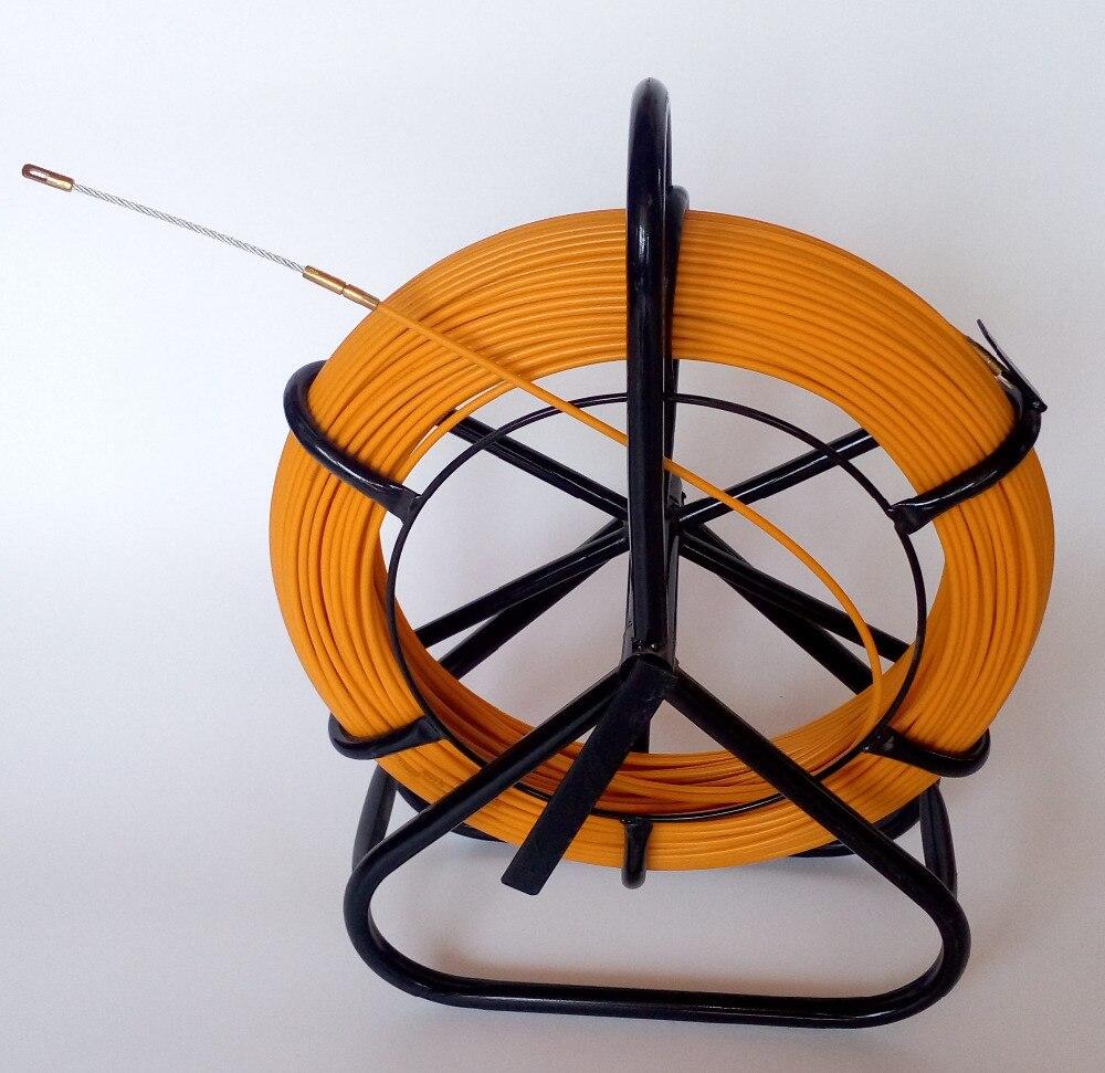 Lectric катушка Провода кабель Бег стержень Протока Rodder fishtape съемник используется для телекоммуникационных, стены и пол conduit 4.5 мм 100 м