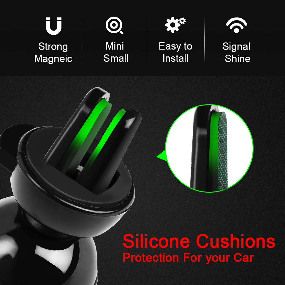 Image 4 - Metrans Magnetic Car Phone Holder For iPhone 360 Degree Air Vent Outlet Mount Stand Holder For Your Mobile Phone telefon tutucu-in Phone Holders & Stands from Cellphones & Telecommunications