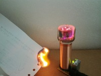 Tesla coil + glow lamp + power supply electronic production of DIY electronic energy saving lamp lights