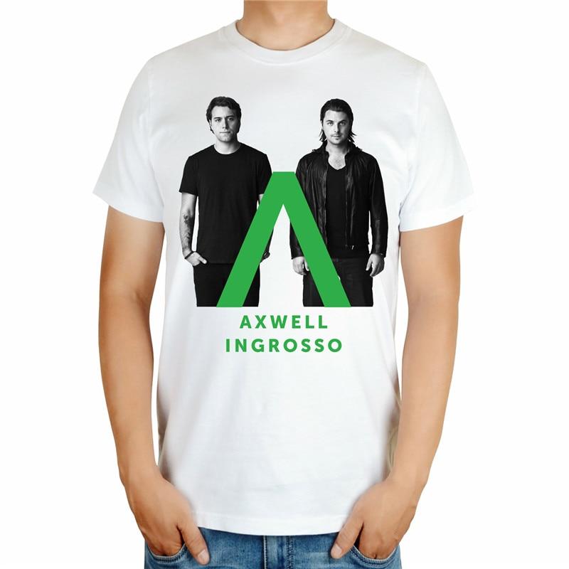 2 вида белый крутой моды AXWELL INGROSSO бренд певец для мужчин DJ master Рубашка mma печать 3D хлопок футболка музыка фитнес