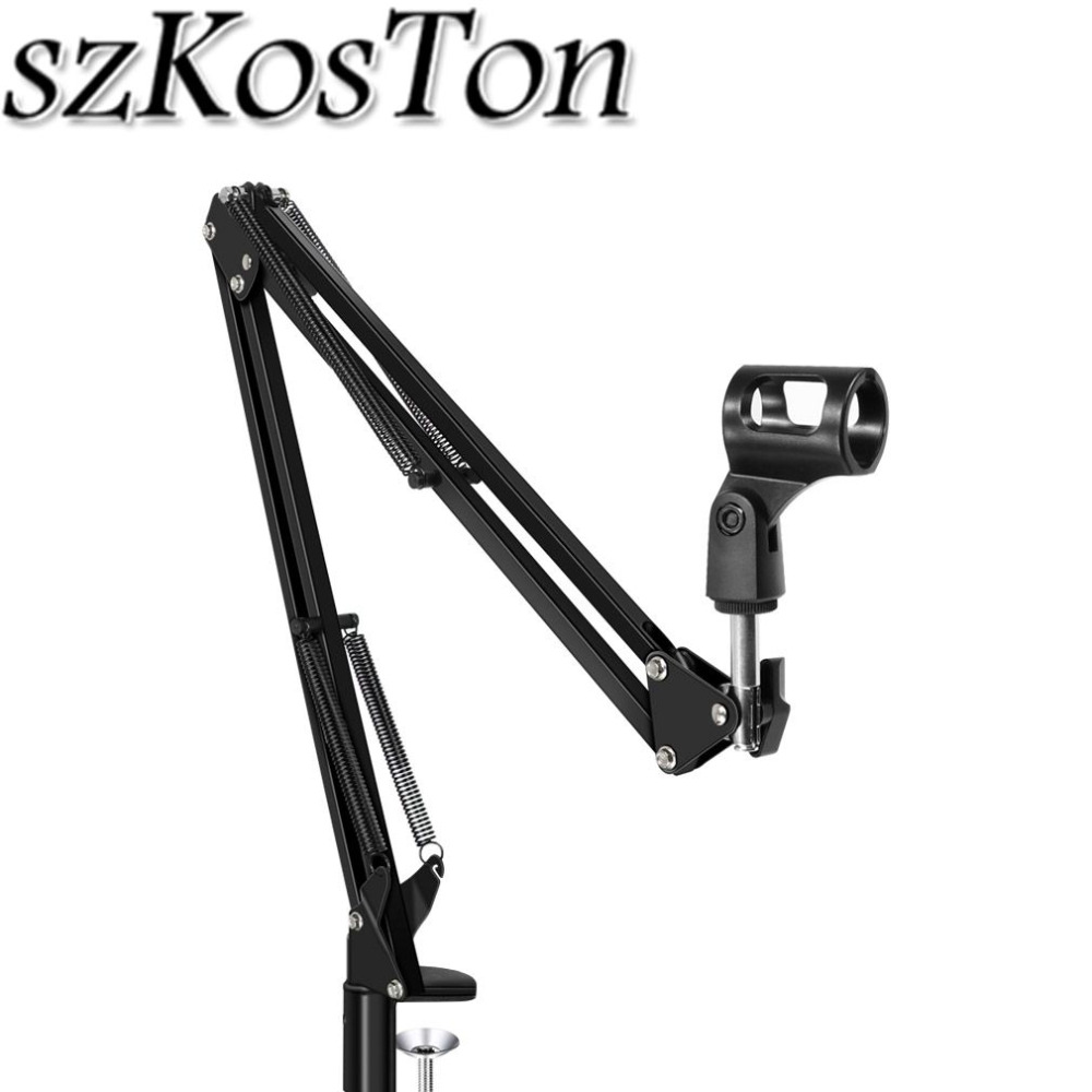 Condenser Microphone Holder Clamp Karaoke Microphone Stand bm800 Scissor Arm Mic Stand for bm 800 900 Studio Microphone Bracket image