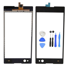 New Black White Glass Sensor Front Panel Touch Screen Digitizer For Sony Xperia C3 D2533 D2502 with LOGO Replacement Parts