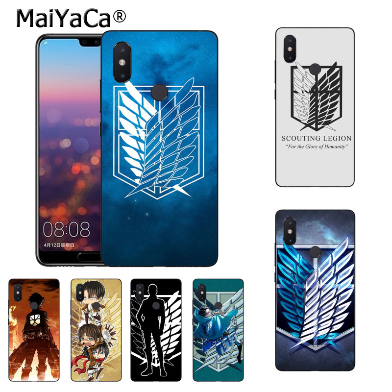 MaiYaCa Anime Japanese attack on Titan Coque Phone case for Xiaomi Mi 6 Mix2 Mix2S Note3 8 8SE Redmi 5 5Plus Note4 4X Note5