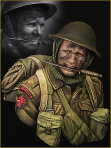 1/10 Resin bust model WWII soldier British special forces Unpainted X14