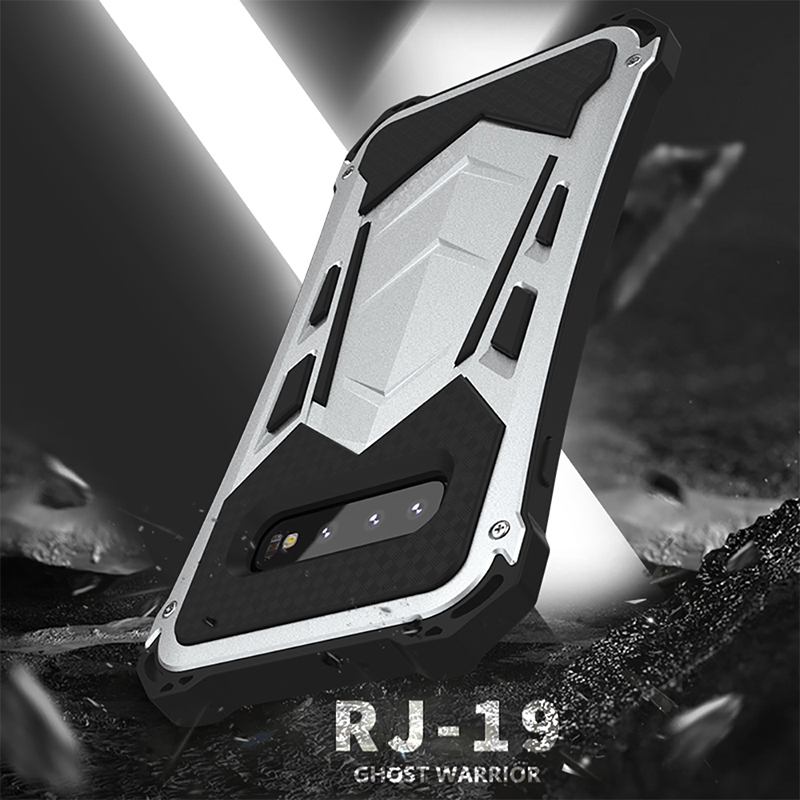 Daily life Waterproof Case For Samsung Galaxy S10 Plus Luxury Aluminum Metal Silicone Hybrid Armor Drop