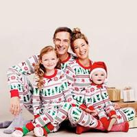Family Christmas Pajamas Family Matching Clothes Set Digital Printing Baby Mother S Dad S Clothes Set