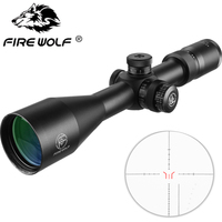 FIRE WOLF 4.5 27X50 Rifle Optic Scope Sight with Fully Multi green Coated Optics for Archery Hunting