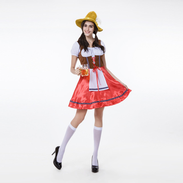 Free Shipping German Women Beer Costume Red Disfraces Carnaval Halloween Costumes for Women  sc 1 st  AliExpress.com & Free Shipping German Women Beer Costume Red Disfraces Carnaval ...