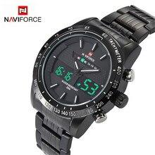 NAVIFORCE Men's watches top Brand Luxury Casual Quartz Watch Men Waterproof Military Wristwatch Stainless Steel