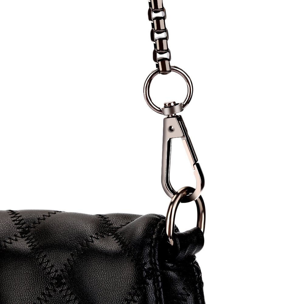 f6a391a784 Guapabien Rhombus Tassel Stylish Bags Chain Strap Women Shoulder Bag  Geometric Black Color PU Zipper Crossbody Bags-in Shoulder Bags from  Luggage   Bags on ...