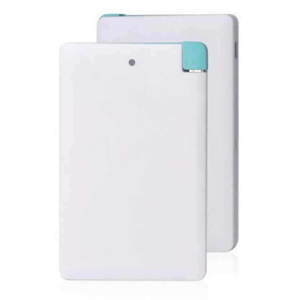 MINI Ultra-thin 8000mAh Power Bank External Battery Bank Quick Charge Powerbank portable charger with USB Output for Phone