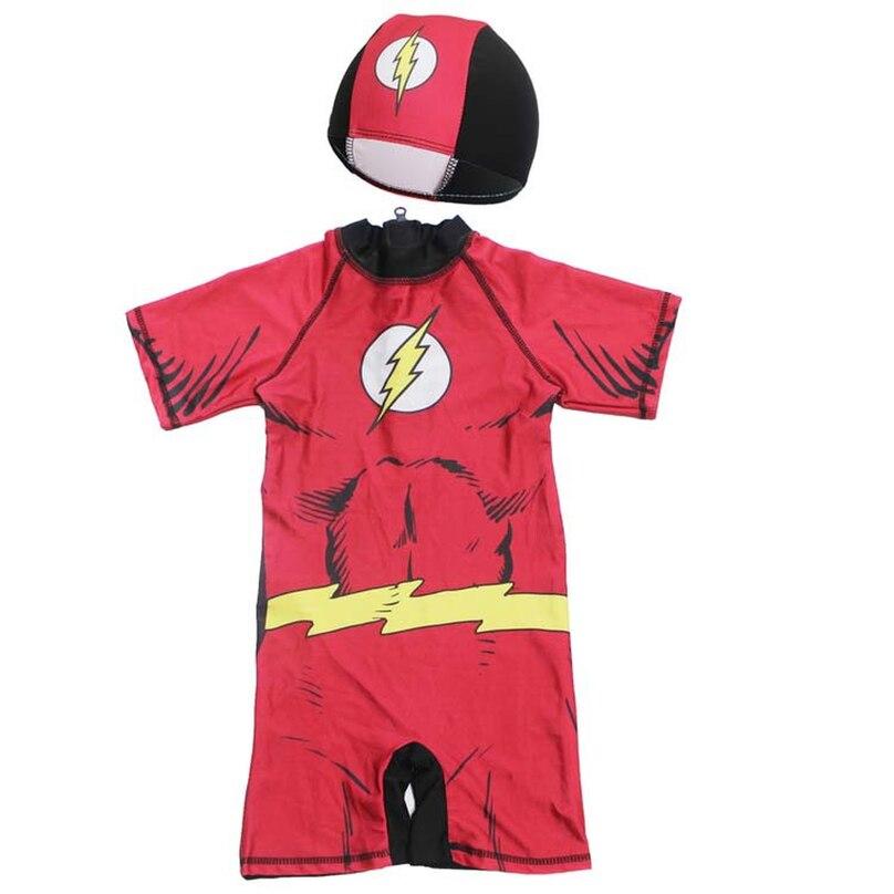 Детский купальный костюм Одна деталь купальный костюм для мальчиков, Миньоны, Бэтмен для детей Капитан Америка спортивные UPF50 + пляжный детский ванный комплект