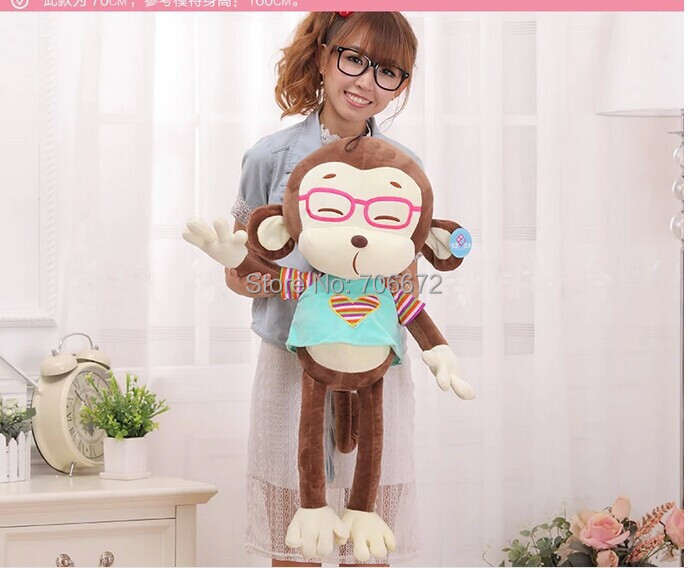 ФОТО large 70cm love cloth monkey plush toy,Christmas gift s0745