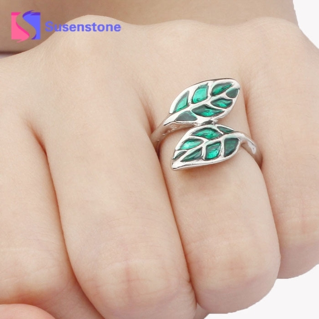 Hot Sales NEW Top Brand Hot New Fashion Cute Silver Korean style Double Green Le
